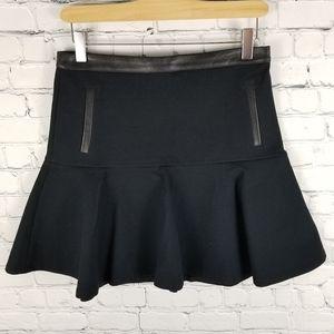 CLUB MONACO   Christine leather trim flirty skirt